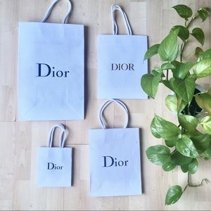 DIOR x4 Bundle Small Shopping Gift Bag Empty